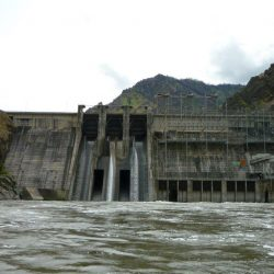 the dam as seen from the water