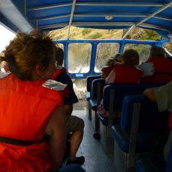 passengers in life jackets enjoying a ride down Hells Canyon Idaho