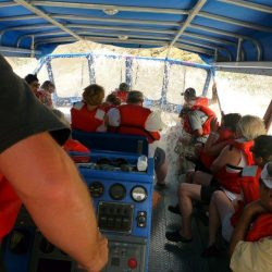passengers getting wet
