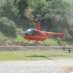 A helicopter landing at Killgore