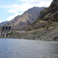 The dam in Hells Canyon