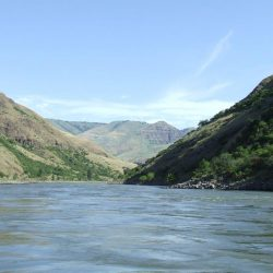 A view of the river in Hells Canyon