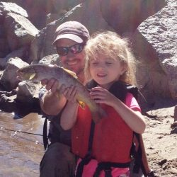 Fly Fishing in Colorado-Daddy & Daughter Catch-Kirk's Flyshop