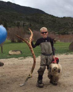 Andrew with Elk Horn