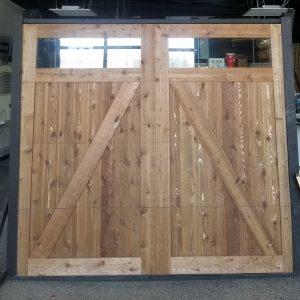 cedar custom garage door