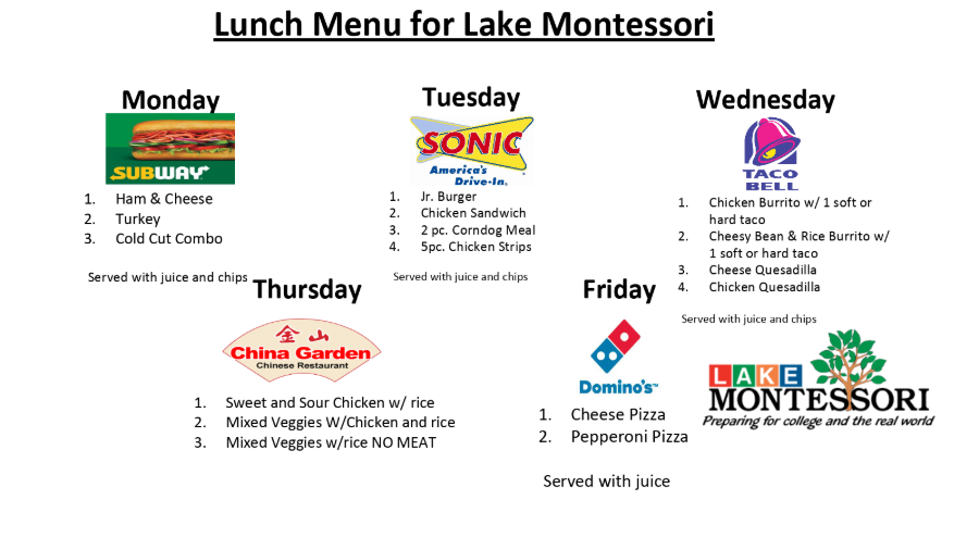 Montessori Lunch Menu Keep Up On Our Leesburg School Lunch