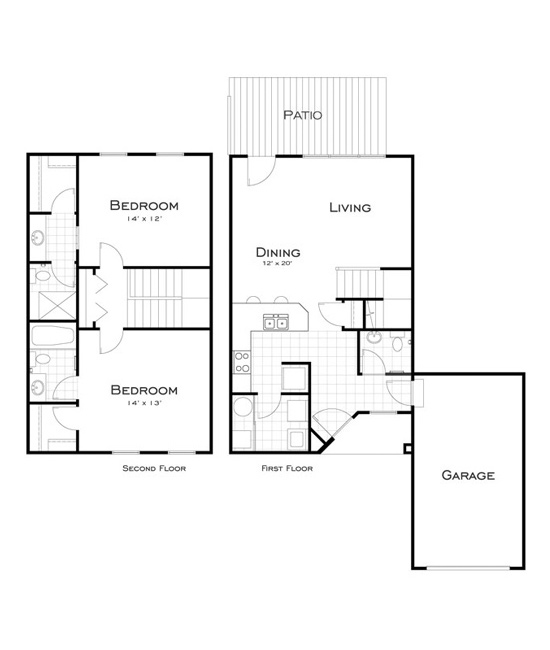 Our West Chester Apartment & Townhome Floor Plans