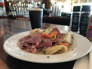 Lakeside Anchor Inn - Corned Beef and Cabbage - Guinness - St. Patrick's Day