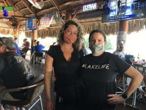 Danielle and Lauren at The Anchor Inn Tiki Bar & Grille
