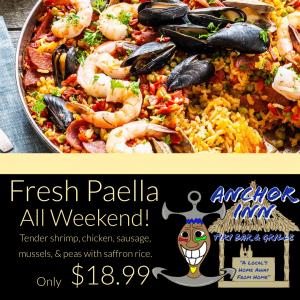 Fresh Paella - Lakeside Anchor Inn
