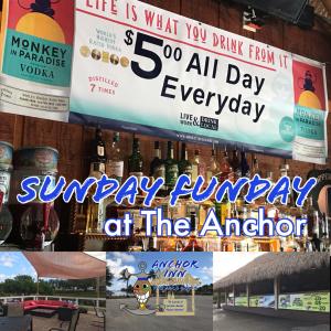 Sunday Funday - Lakeside Anchor Inn Tiki Bar & Grille