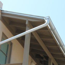 Aluminum Half-Round Gutters With Matching Downspouts