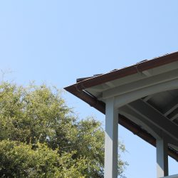 Half-Round Gutters on Porch Overhang