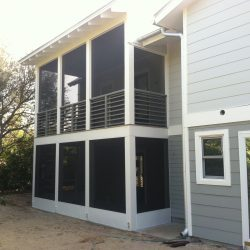 New Covered and Screened Porch Installation