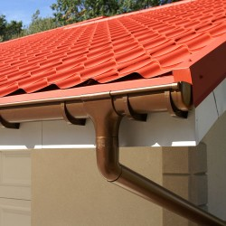 Half-Round Gutters and Downspout