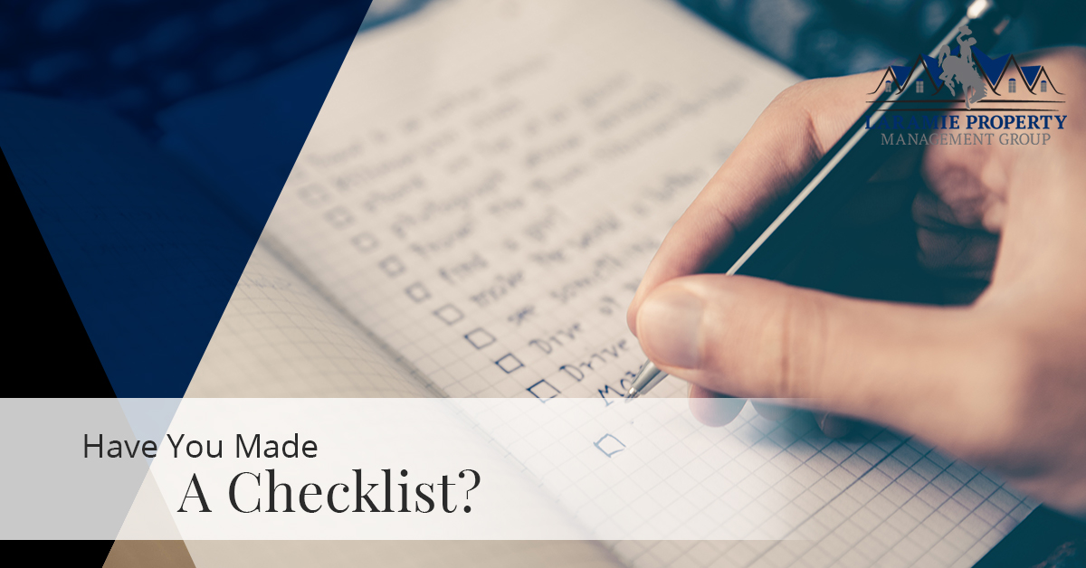 Have You Made a Checklist