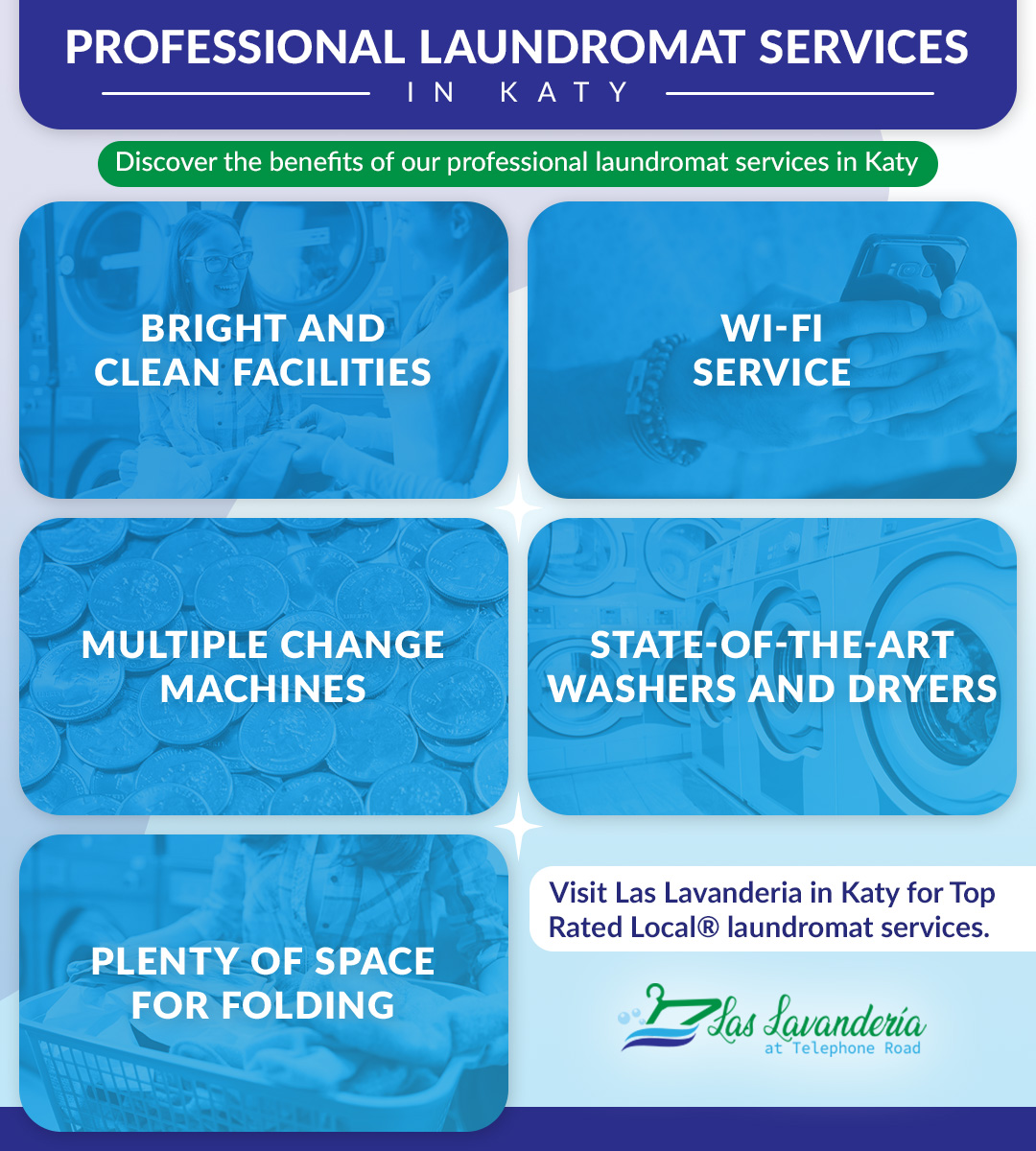 Professional Laundromate Services in Katy - Infographic