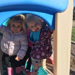 Playing outside at our Rosemount toddler care center