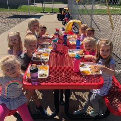 Lunch time for our Rosemount pre-school program