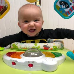 A picture of an infant playing - Leaps and Bounds