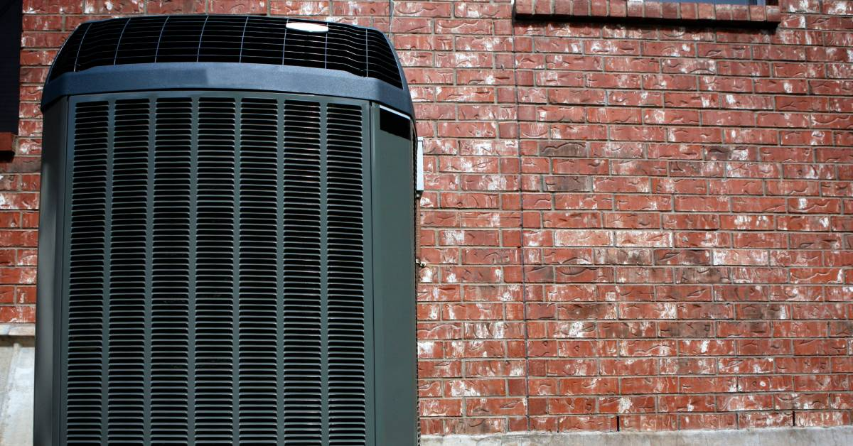 Image of a air conditioning unit outside.