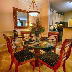 Open concept dining and kitchen at our apartments - The Legends Apartments