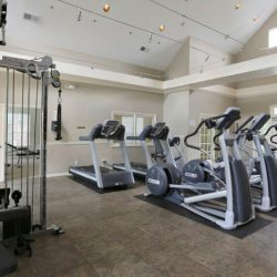 Apartment fitness center at The Legends Apartments