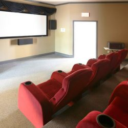 The theater room at our apartment complex - The Legends Apartments
