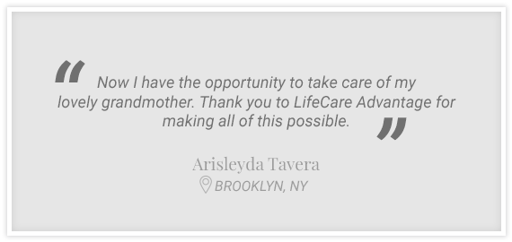 """Now I have the opportunity to take care of my lovely grandmother..."" Testimonial from Arisleyda Tavera, Brooklyn, NY"