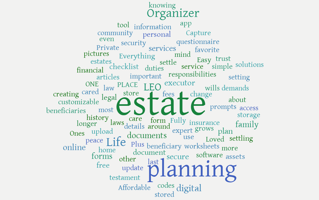 Estate Planning - Life Estate Organizer LEO