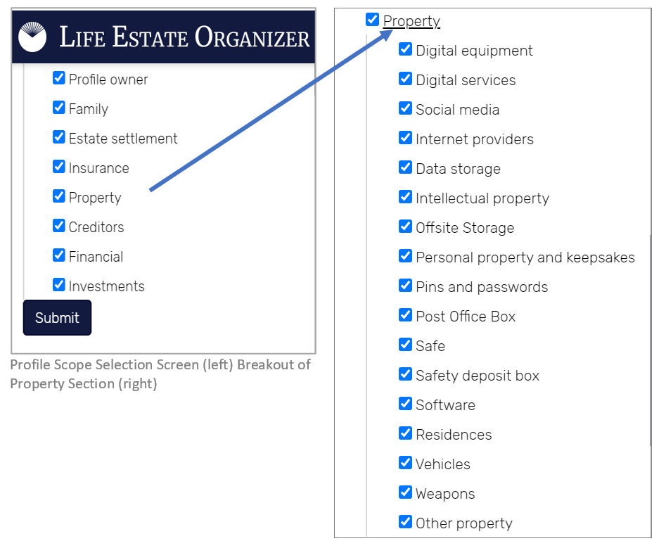 Life Estate Organizer - LEO