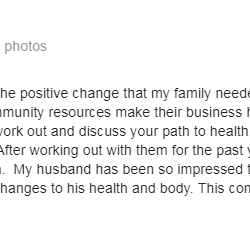 Lift and Live Fitness has truly been the positive change that my family needed.