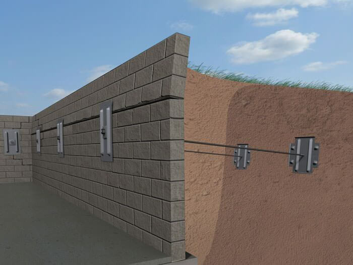 Graphic showing how Liftech repairs concrete walls