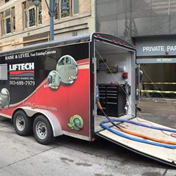 Liftech truck out for service