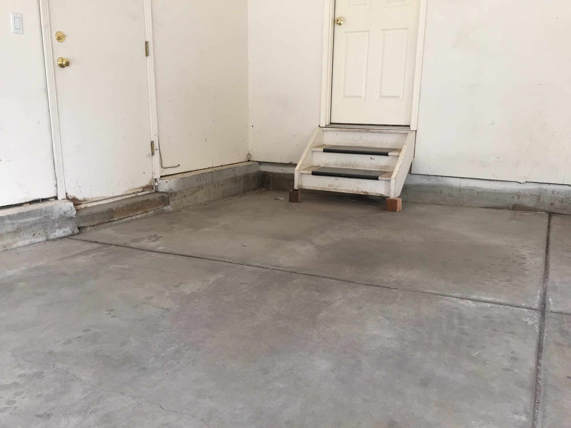 Garage in need of concrete raising