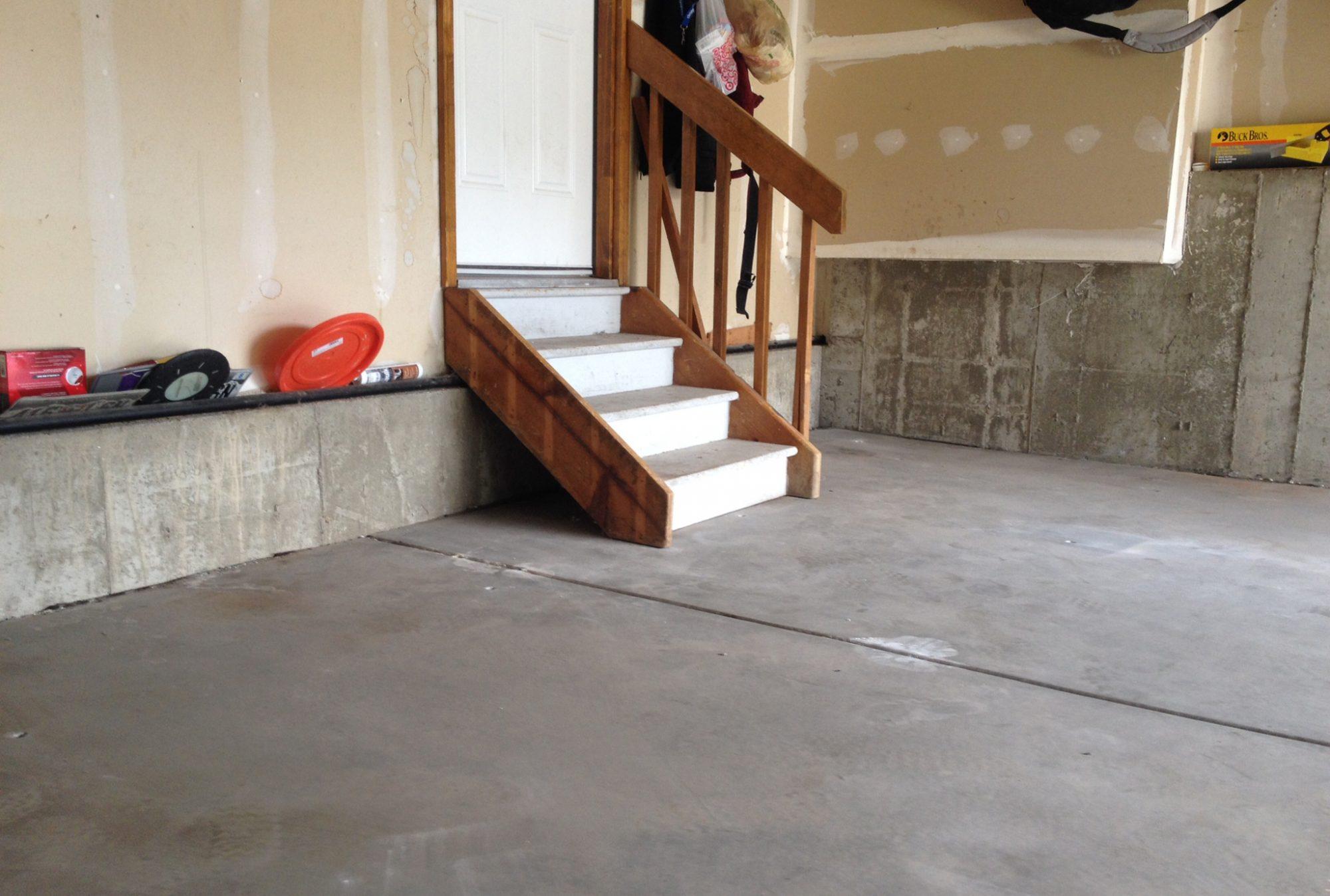 Garage floor after Liftech concrete raising