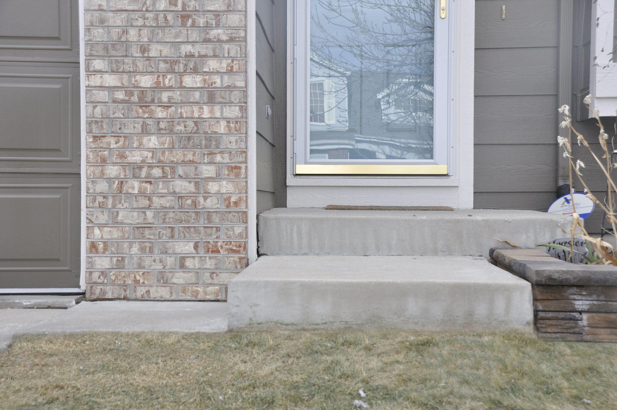 Concrete porch repaired by Liftech, a concrete raising company