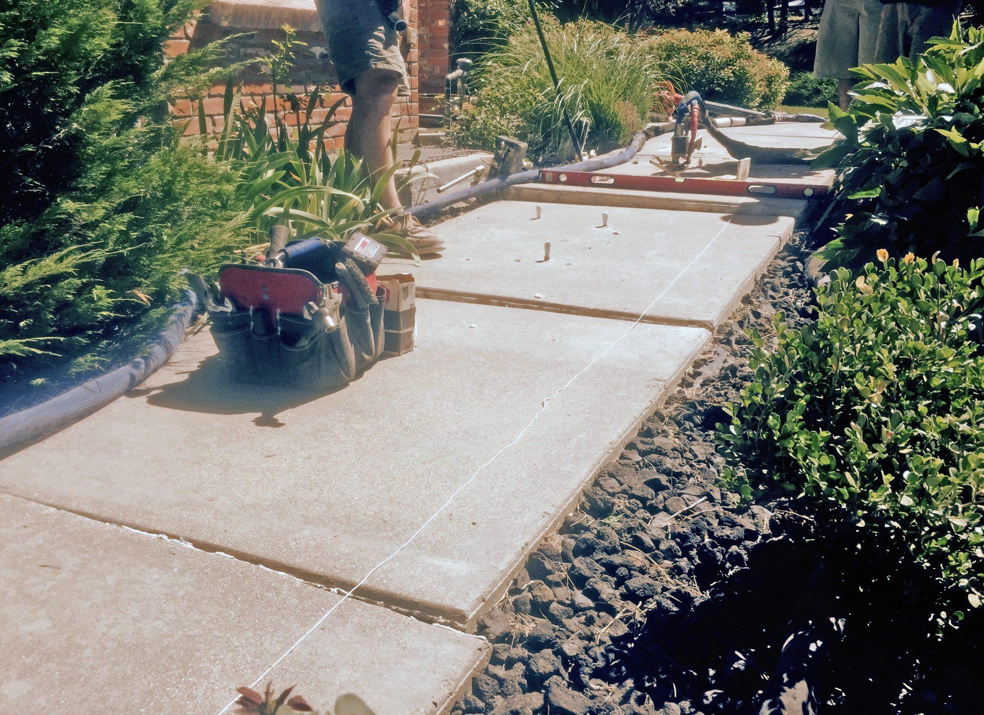 Walkway repair in progress from Liftech