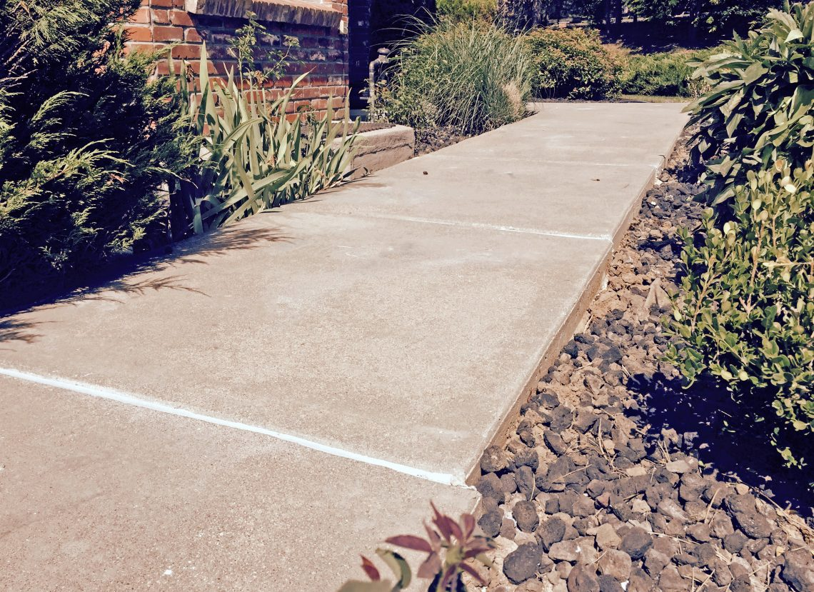 Repaired concrete walkway from Liftech