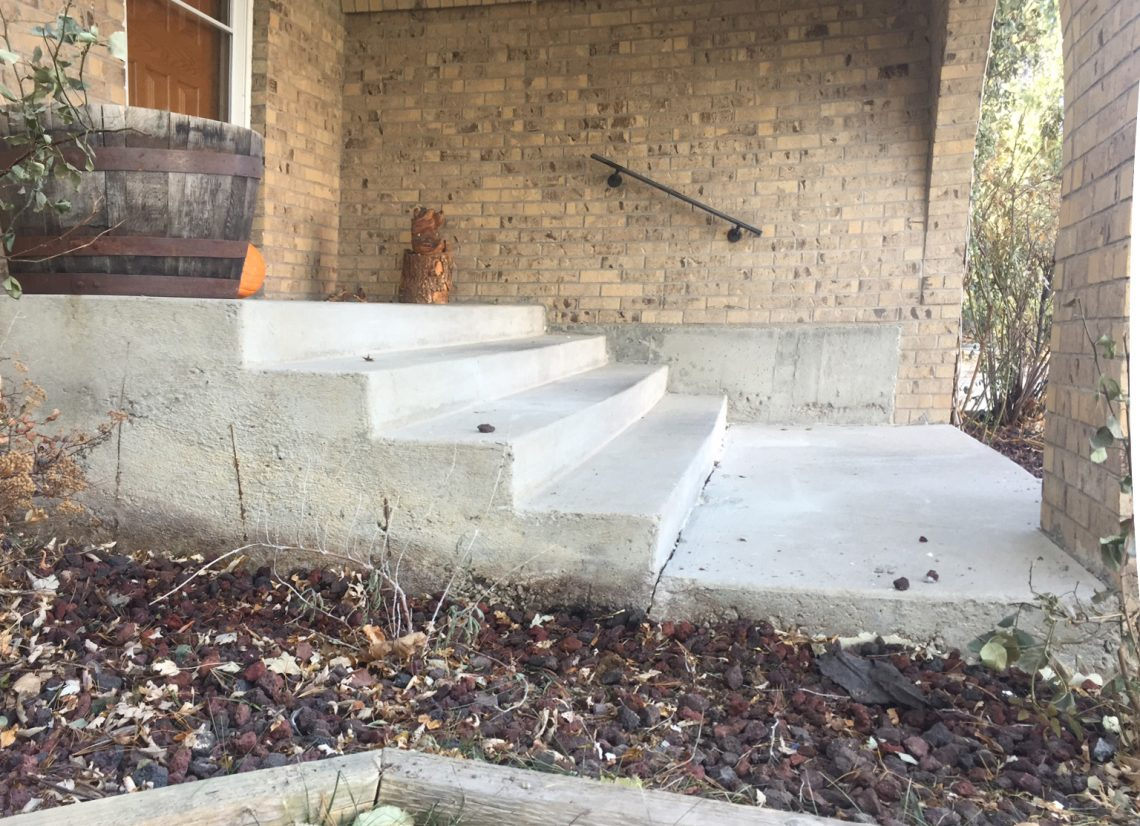 Stairs after Liftech concrete repair