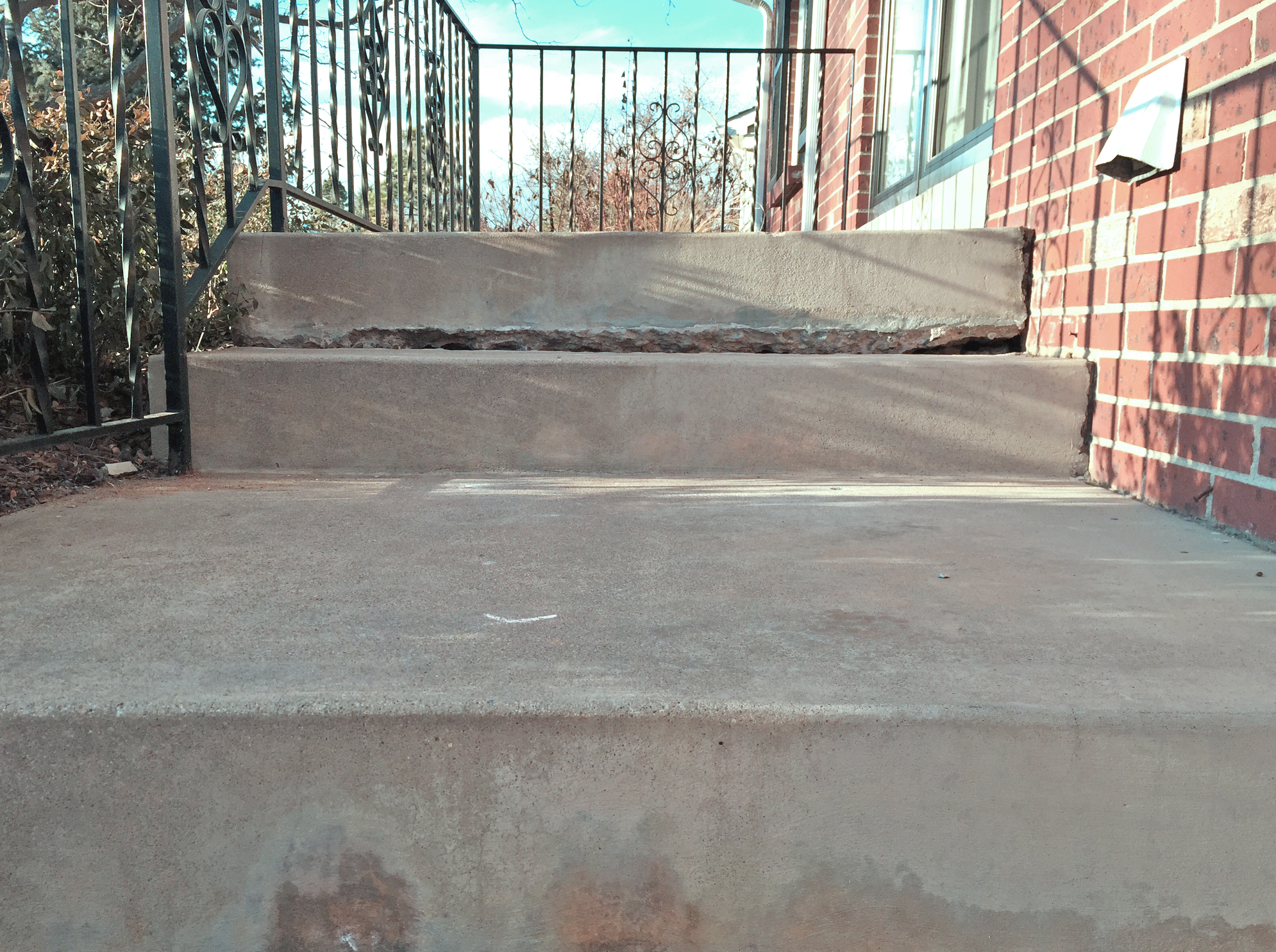Broken staircase before repair by Liftech