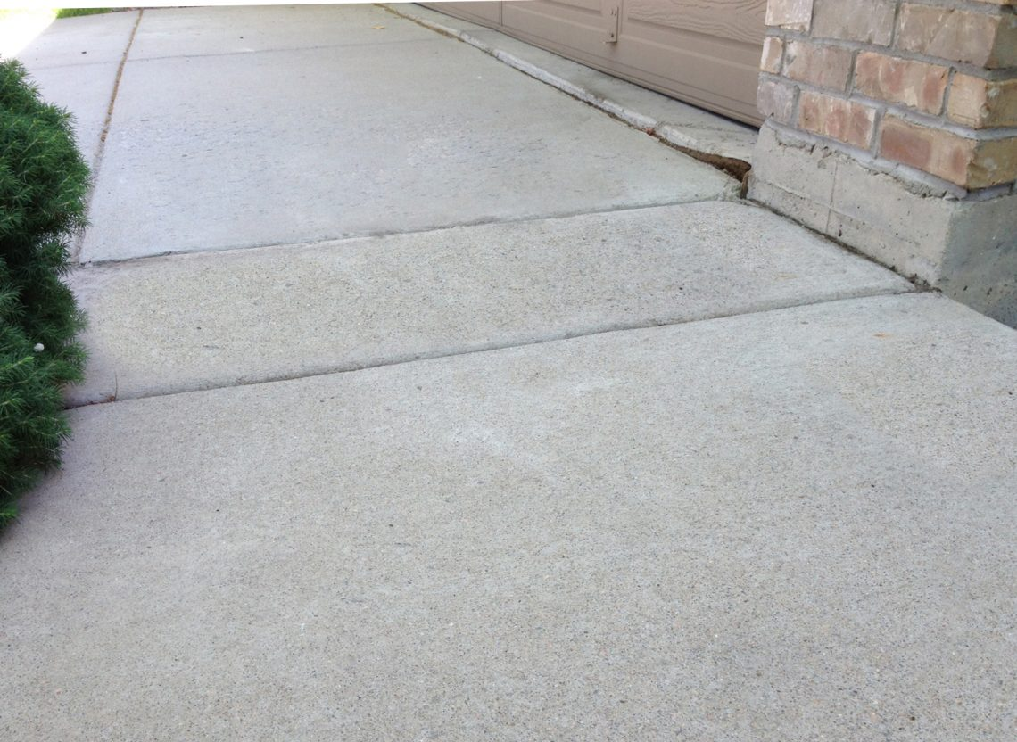 Concrete walkway repaired by Liftech