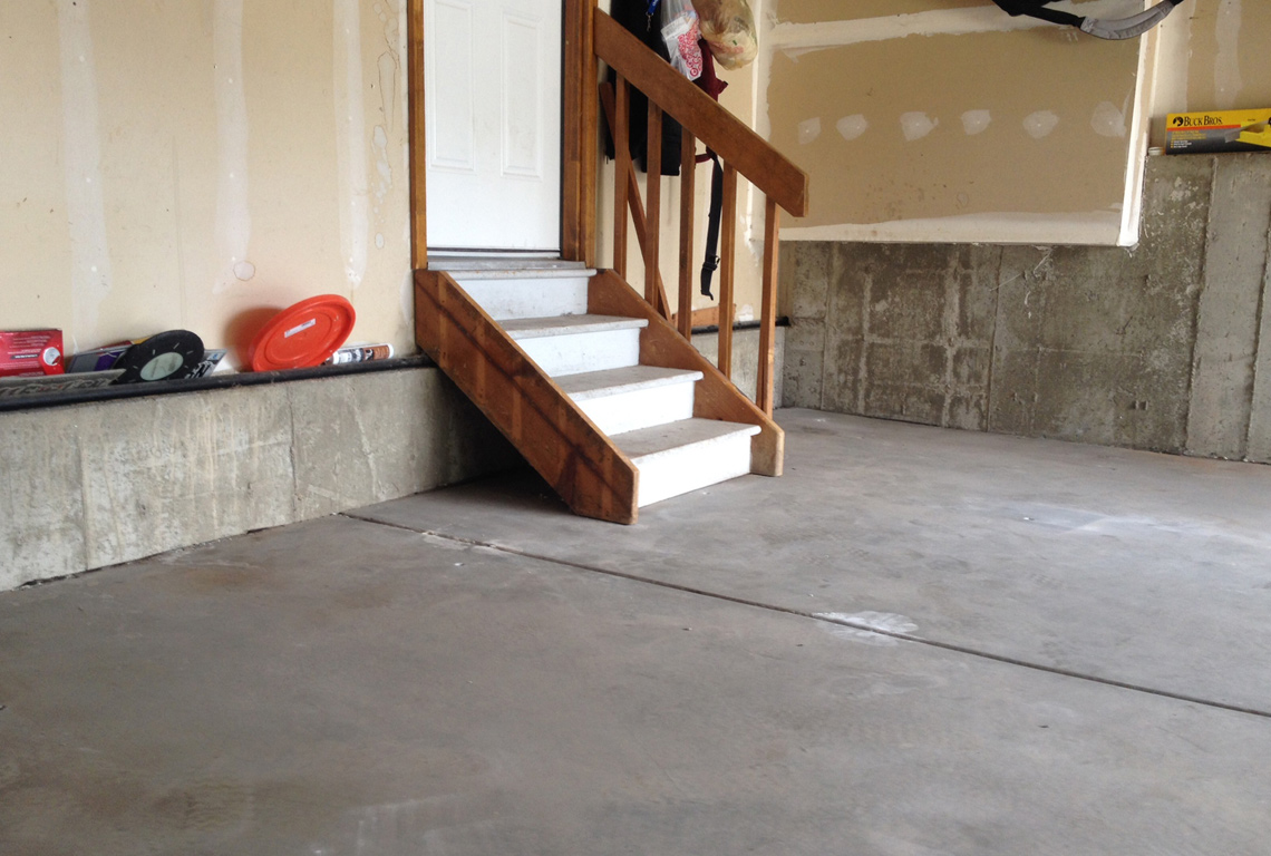 Garage floor after Liftech concrete raising