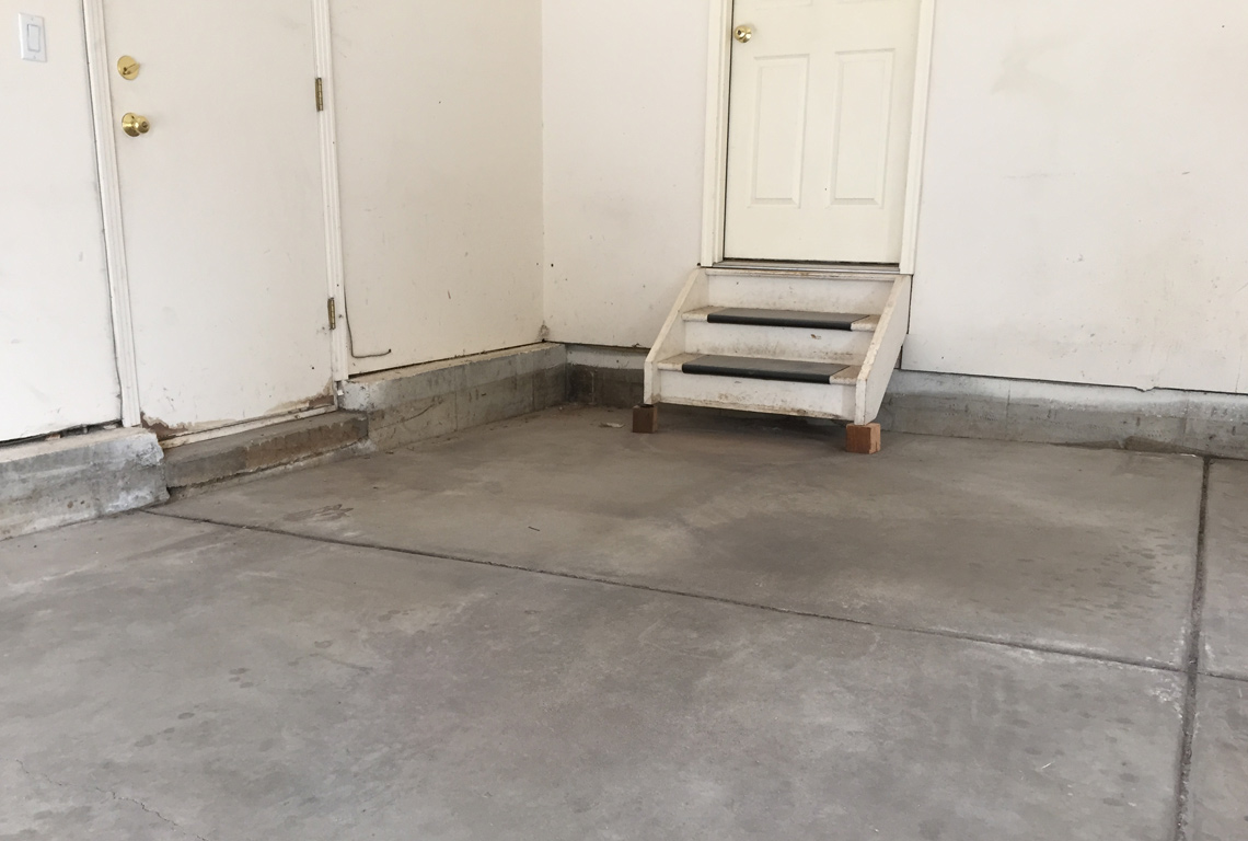 Garage in need of concrete raising