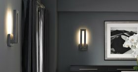 These modern wall sconces add an air of sophistication to the dining room
