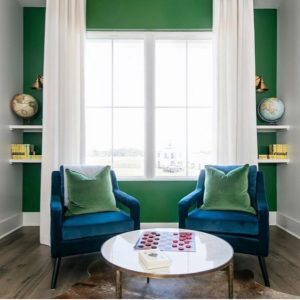2020 design trend green accent wall