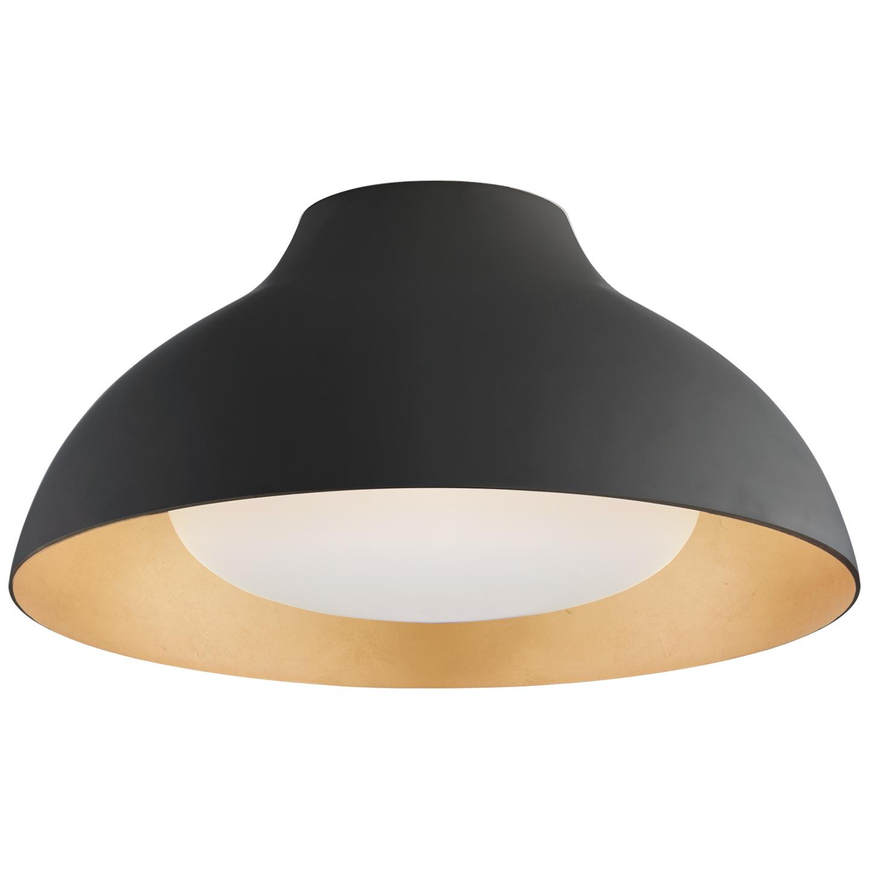 fort collins lighting aerin black gold led flush mount light