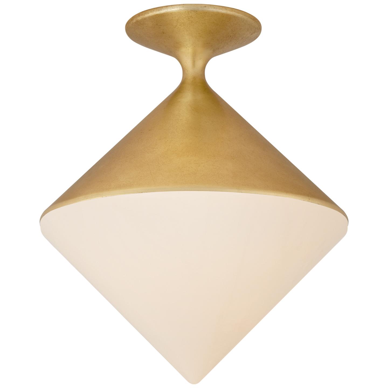 fort collins lighting aerin gold white led flush mount light