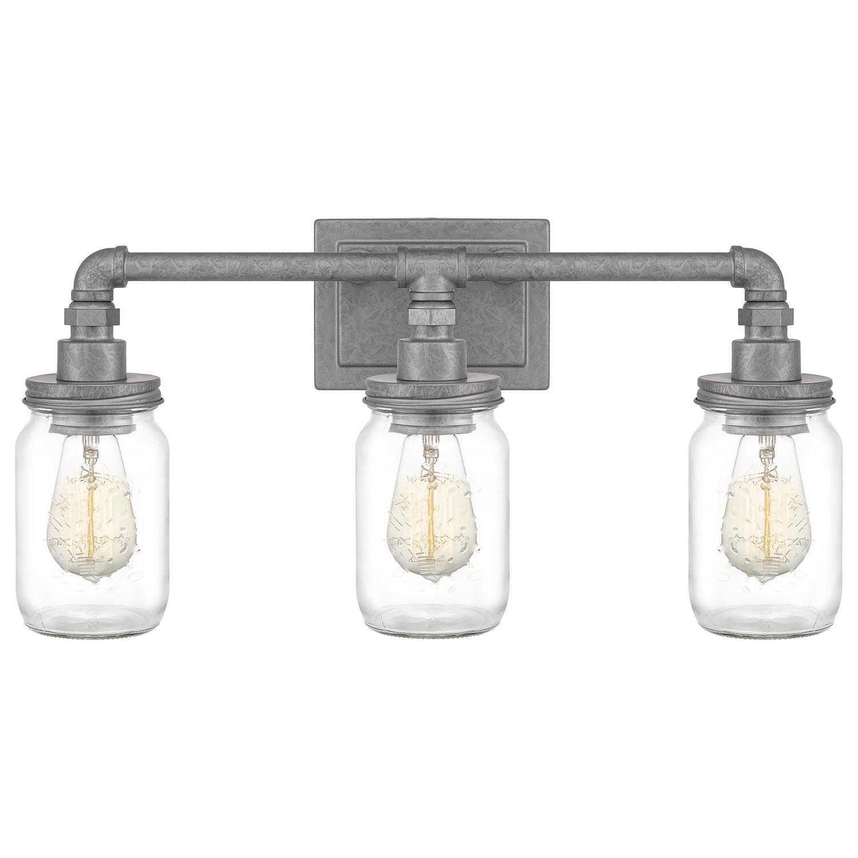 farmhouse style lighting mason jar 3 light bathroom vanity light