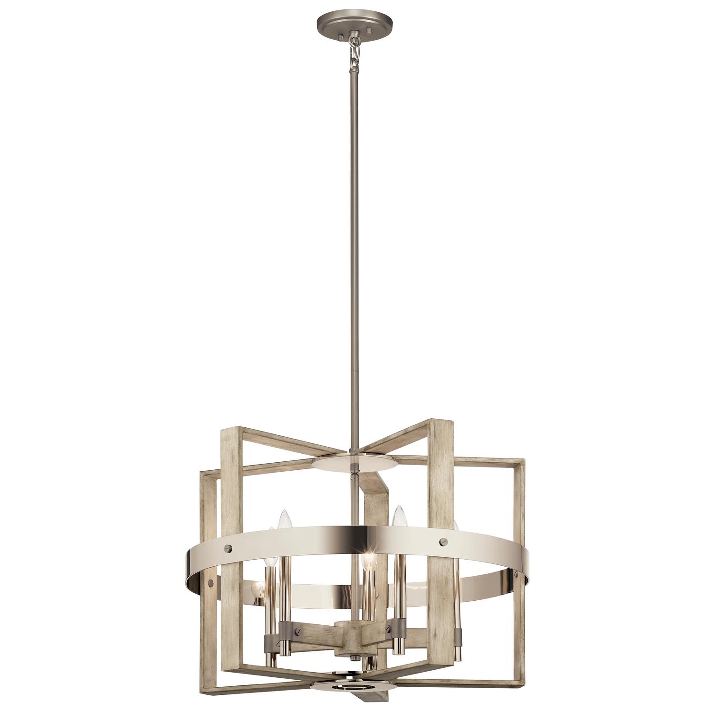farmhouse style five light chandelier light wood finish dining room lighting